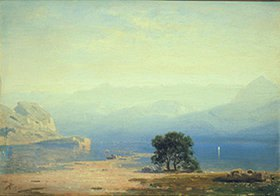 Eduard Stanislaus von Kalkreuth: Alpenlandschaft
