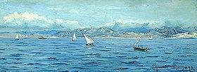 Peder Moensted: Segelboote bei Gebraltar