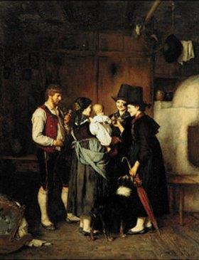 Franz von Defregger: Der Besuch