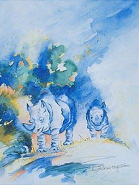 Annette Bartusch-Goger: Blaue Nashörner