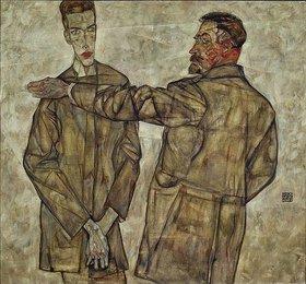 Egon Schiele: Doppelbildnis (Zentralinspektor Heinrich Benesch und sein Sohn Otto)