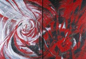 Annette Bartusch-Goger: Himmel und Hölle. 2003. Diptychon