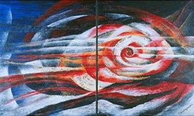 Annette Bartusch-Goger: Metamorphose. 2003. Diptychon