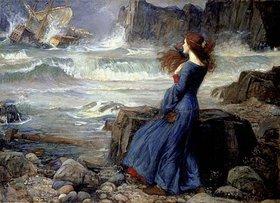 John William Waterhouse: Miranda im Sturm