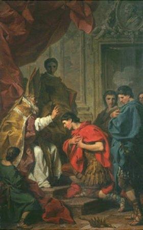 Pierre Subleyras: Kaiser Theodosius vor dem Heiligen Ambrosius