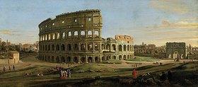 Gaspar Adriaens van Wittel: Ansicht des Colosseums in Rom bei Sonnenuntergang