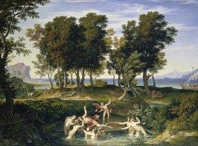 Joseph Anton Koch: Landschaft mit dem Raub des Hylas durch die Nymphen