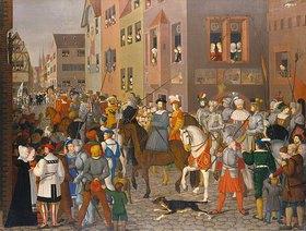 Franz Pforr: Der Einzug des Königs Rudolf von Habsburg in Basel im Jahre