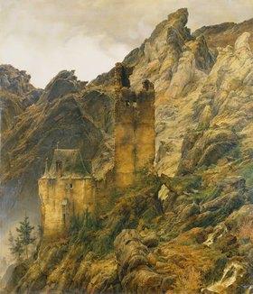 Carl Friedrich Lessing: Schlucht mit Ruinen