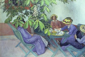 Carl Larsson: Teestunde unter Kastanienblüten