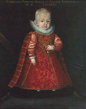 Deutsch: Wladislaus IV. Wasa, König von Polen (1595-1648) als Kind. 16. Jahrhundert