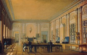 Nikolai I Podkljutschnikoff: Mal-Atelier im Moskauer Kunstkolleg. 1830-er Jahre