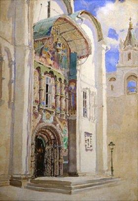 Vasilij Dimitrijew Polenow: Das Südportal der Maria-Himmelfahrt-Kathedrale im Moskauer Kreml
