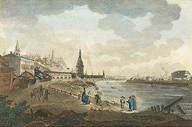 Giacomo Quarenghi: Die Grosse Steinbrücke und der Kreml in Moskau. 1790-er Jahre