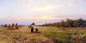 Iosif Efstaviev Krachowskij: Getreideernte im Abendlicht