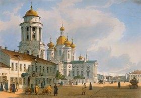 Ferdinand Perrot: Die Kirche der Jungfrau von Wladimir in St.Petersburg. 1840-er Jahre