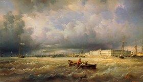 Ferdinand Perrot: Blick auf die Newa und die Kunstakademie in St.Petersburg