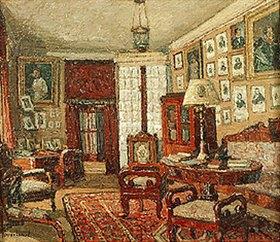 Pjotr Petrowitschev: Das Lesezimmer im Hause des Dichters E. Boratinskij