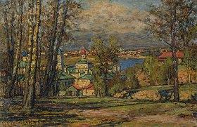 Pjotr Petrowitschev: Blick von den Worobjev-Hügeln auf Moskau