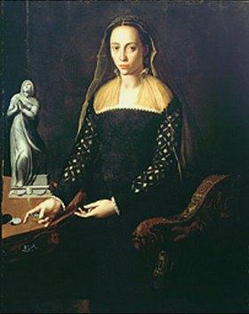 Agnolo Bronzino: Bildnis einer Edeldame in Schwarz