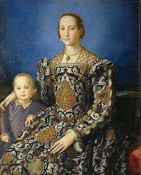 Agnolo Bronzino: Bildnis der Eleonora von Toledo mit ihrem Sohn Giovanni
