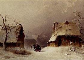 Friedrich de Leuw: Aufkommender Schneesturm