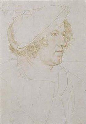 Hans Holbein d.J.: Jakob Meyer. Vorzeichnung zum Gemälde von