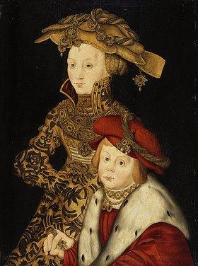 Franz Wolfgang Röhrich d.Ä.: Kurfürst Johann Friedrich von Sachsen und seine Mutter