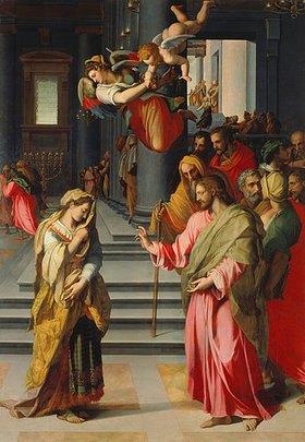 Alessandro (Bronzino) Allori: Christus und die Ehebrecherin