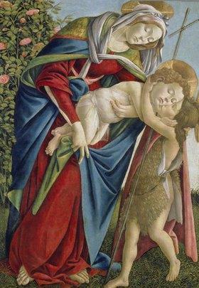 Sandro Botticelli: Madonna mit Kind und dem Johannesknaben