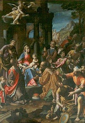 Aurelio Lomi: Die Anbetung der Hl. Drei Könige