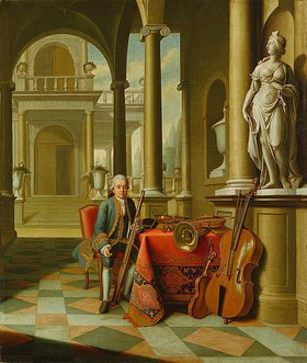 Peter Jakob Horemans: Bildnis des Hofmusikus` Felix Reiner mit Fagott