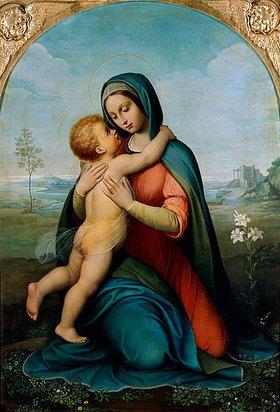 Antonio Marini: Madonna del Bacio (mit Lilien)