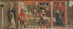 Giovanni di Bartolo Matteo: Der Tanz der Salome und Bildnis des Hl. Paulus. Predella eines Altars