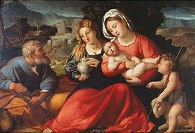 Palma Vecchio (Jacopo Negretti): Die Hl. Familie mit dem Johannesknaben und Maria Magdalena