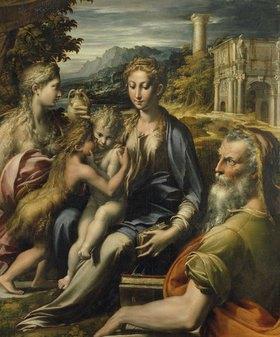 Parmigianino (Francesco Mazzola): Maria mit Kind und Magdalena, Johannesknaben und Zacharias