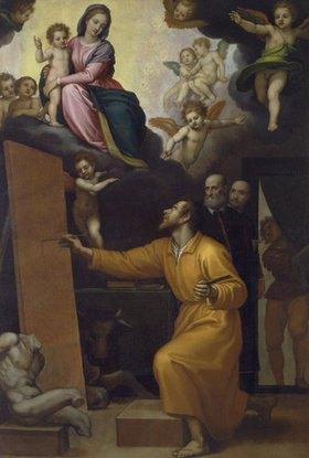 Passignano (Domenico Cresti): Der Hl. Lukas malt die Madonna