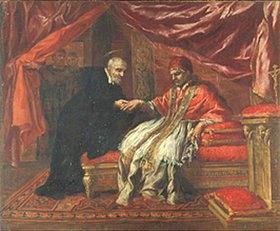 Pietro da Cortona (P. Berretini): Der Hl. Filippo Neri heilt Papst Clemens VIII