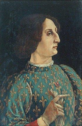 Antonio del Pollaiuolo: Bildnis des Galeazzo Maria Sforza