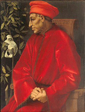 Jacopo Carucci da Pontormo: Bildnis von Cosimo de `Medici d.Ä