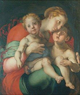 Jacopo Carucci da Pontormo: Maria mit dem Jesuskind und dem Johannesknaben
