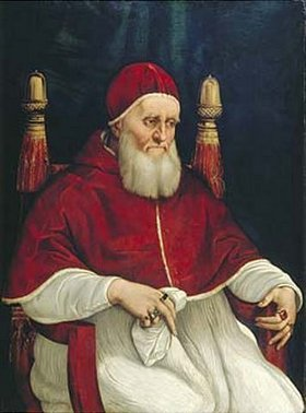 Raffael (Raffaello Sanzio): Bildnis von Papst Julius II