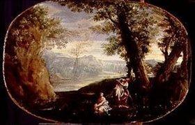 Annibale Carracci: Landschaft mit badenden Frauen