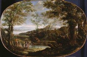 Annibale Carracci: Landschaft mit Flußszene