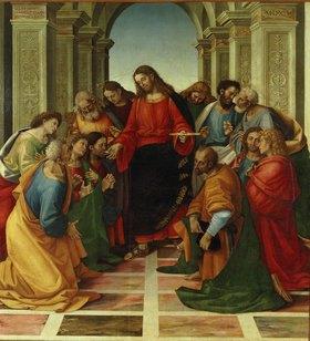 Luca Signorelli: Christus spendet den Aposteln das Abendmahl