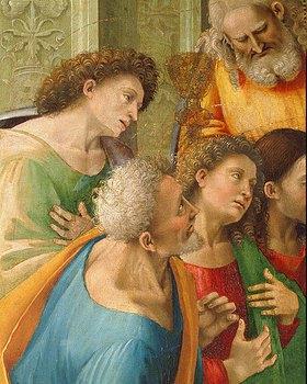 Luca Signorelli: Detail aus Christus spendet den Aposteln das Abendmahl
