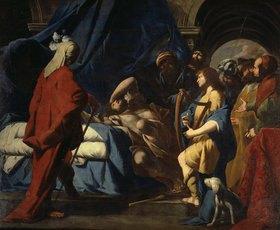 Giovan Battista Spinelli: David spielt die Harfe vor dem bekümmerten Saul