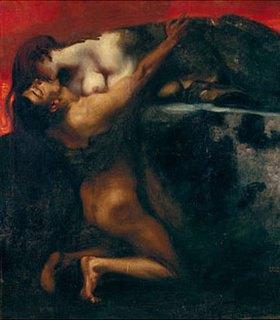 Franz von Stuck: Der Kuss der Sphinx