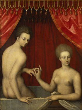 Schule von Fontainebleau: Gabrielle d'Estrée und ihre Schwester