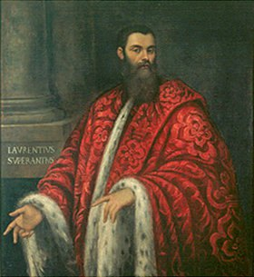 Domenico Tintoretto: Bildnis eines bärtigen Mannes in pelzbesetzter Robe